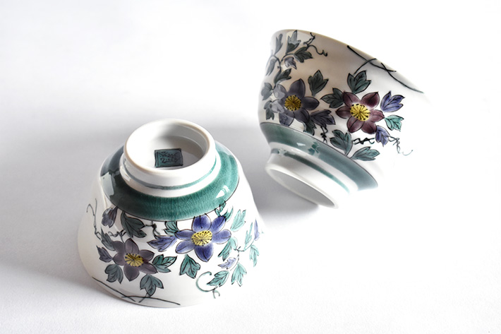 九谷焼 夫婦茶碗 鉄仙