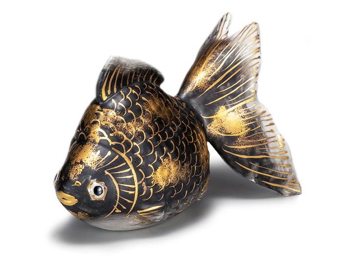 九谷焼 金魚 縁起物 置物 和座本舗