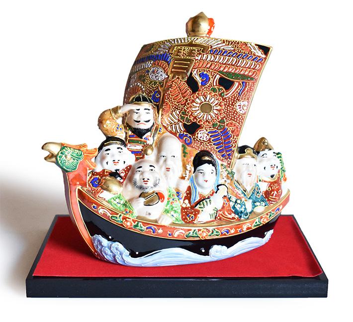 九谷焼 七福神 宝船 縁起物 置物 和座本舗